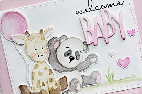 Technique: Baby Card with No-Line Stamping and Water Color