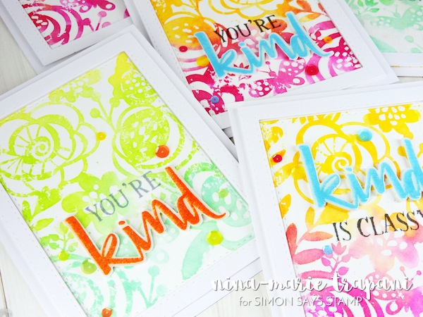 Technique: Water Colored Stencil Stamping