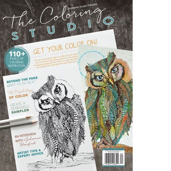 Review The Coloring Studio Magazine Summer 2016 Stamping