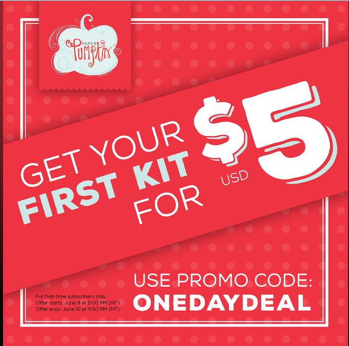 Get your First Paper Pumpkin Kit for only $5!!