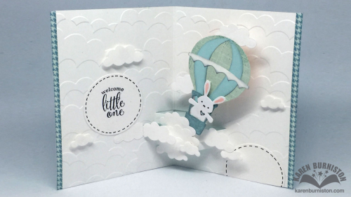 Project: Bunny Balloon Baby Pop Up Card