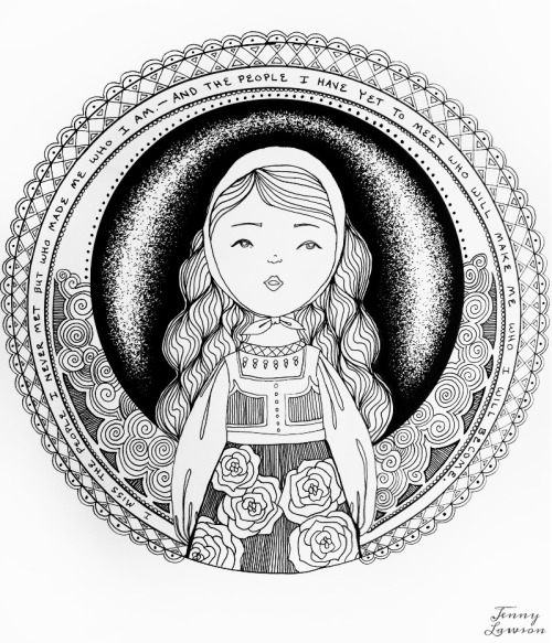 Freebie: Bohemian Girl Coloring Page