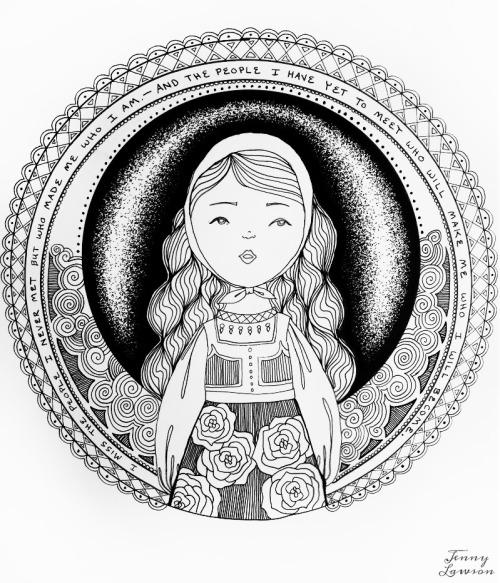 Freebie: Bohemian Girl Coloring Page