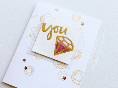 Project: Sparkle and Shine Glitter Card