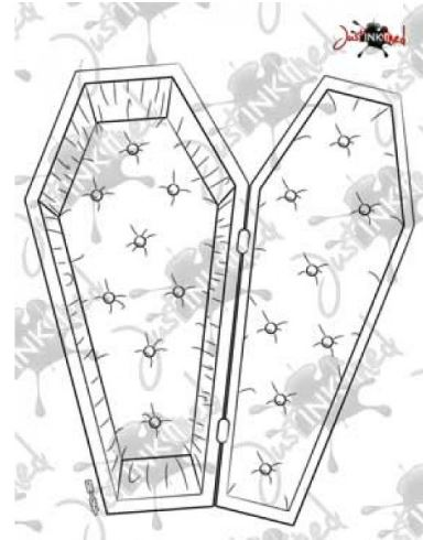 Freebie: Halloween Coffin Digi Stamp