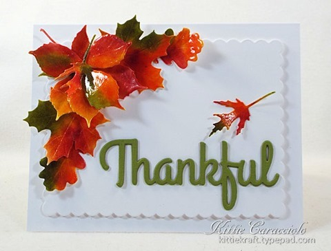Project: Thank You Card with Real Looking Leaves