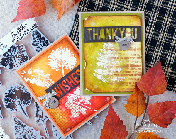 Technique: Fall Embossed Resist Cards
