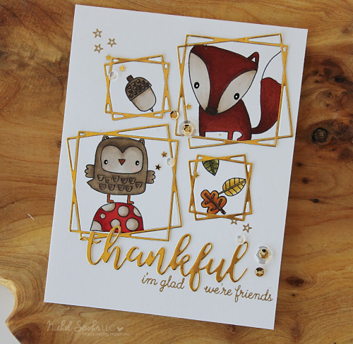 Project: Woodland Animals Fall Card