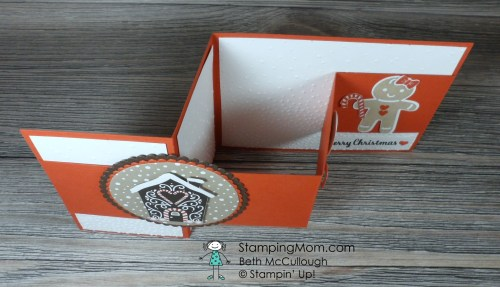 Stampin Up Cookie Cutter Christmas Double Z Fold Card designed by demo Beth McCullough. Please see more card and gift ideas at www.StampingMom.com #Stampingmom