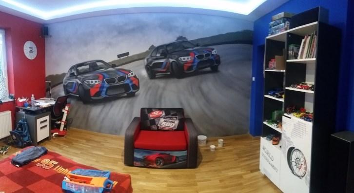 samochody malowane w pokoju syna fana marki bmw2