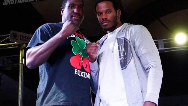 Laron Mitchell and Scott Alexander meet before their October 21st heavyweight fight | Photo: Art Gallegos Jr. for Standnfight.com