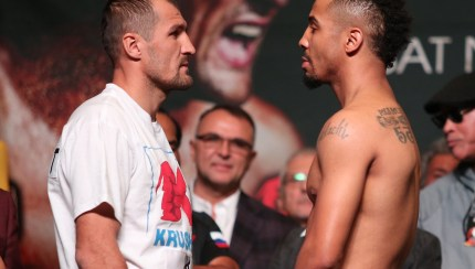 SERGEY KOVALEV VS. ANDRE WARD OFFICIAL WEIGH-IN  Location: MGM Grand Garden Arena