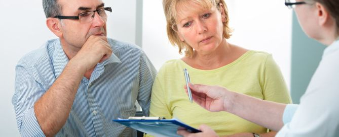 mature couple getting financial advice