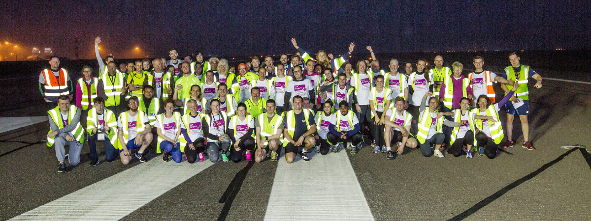 Joggers not jets take off on Stansted's runway for charity fun run