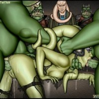 Sexy twi'lek gets hard fucked by Jabba's friends in her ass and mouth!