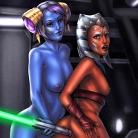 This hot blueskinned chick is going to show Ahsoka Tano a completely new level of negotiations... that still involving lightsabers non the less!