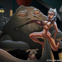 Ahsoka Tano make fun with dirty Jabba Hatt