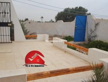:LOCATION ANNUELLE MAISON MEUBLÉE S+2 A MEZRAYA DJERBA