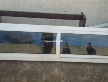 fenêtre aluminium gris 2,10/54