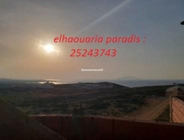 Des terrains a vendre a Elhaouaria proche tous les commodités vue de mer