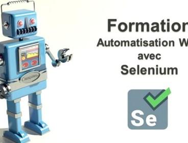 Formation Pratique Sélénium Automatisation de test web Driver