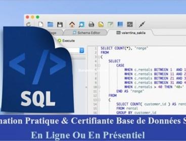 Réduction : Formation SQL Certifiante