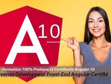 Formation 100% Pratique et certifiante  Angular 10