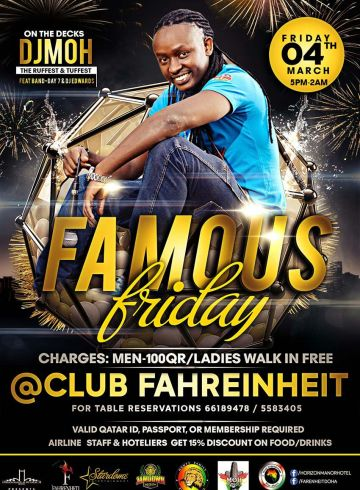 Famous Friday 4th March 2016