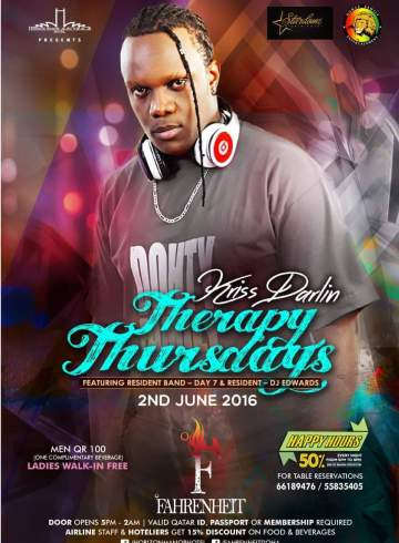 Stardome Presents: Therapy Thursday With Kriss Darlin (Qatar Dohty Thursday)