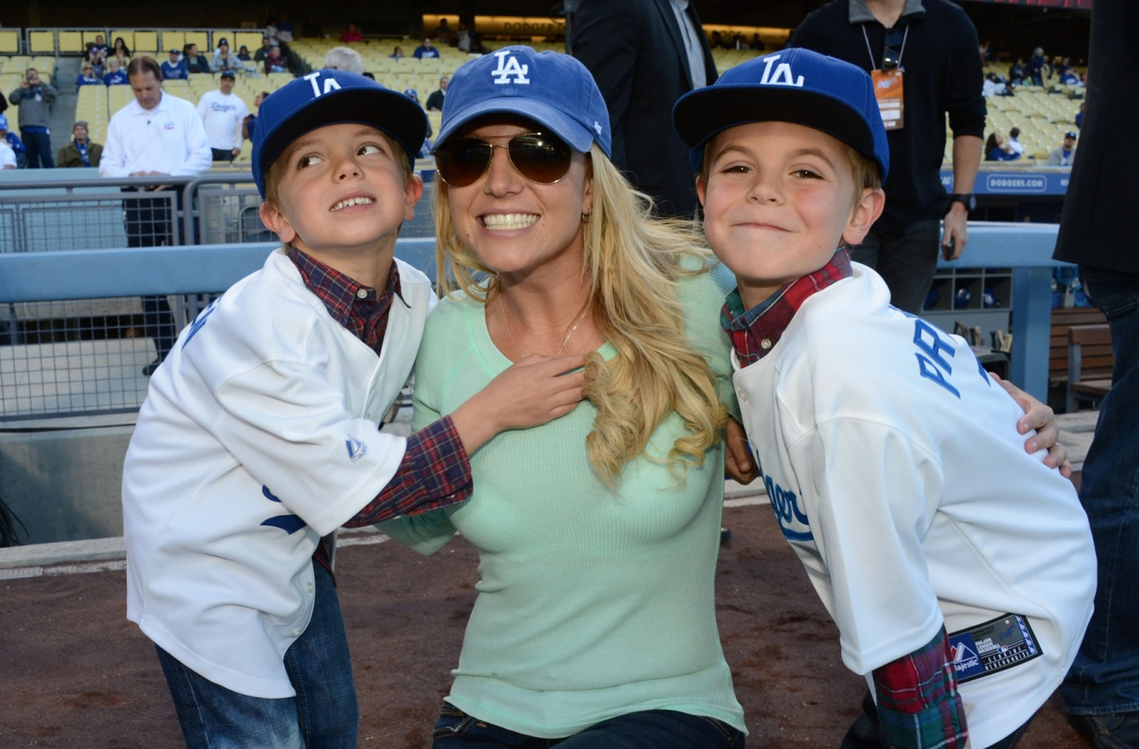 Briney Spears and her sons Jayden James and Sean Preston