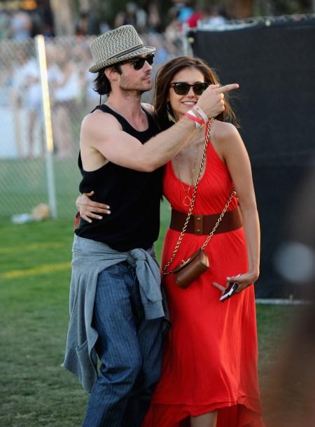 Nina Dobrev & Ian Somerhalder at Coachella