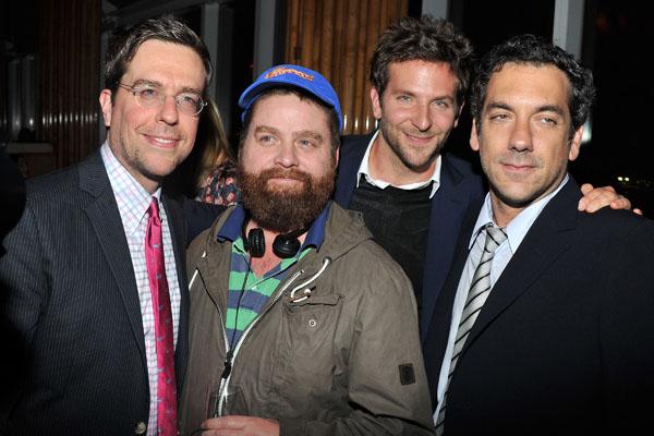 Ed Helms, Zach Galifinakis, Bradley Cooper & Todd Phillips