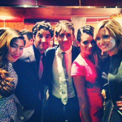 'Glee' cast and Demi Lovato at Fox Upfronts