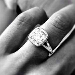 Catherine Giudici's engagement ring