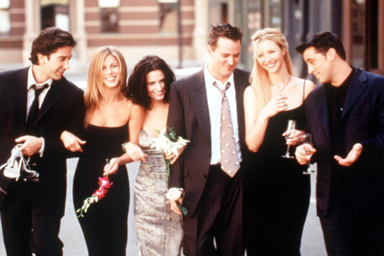 The Cast Of Friends 1999 2000 Season From L R: David Schwimmer Jennifer Aniston Courteney Cox Ar