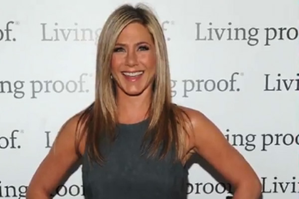 jennifer aniston gray dress