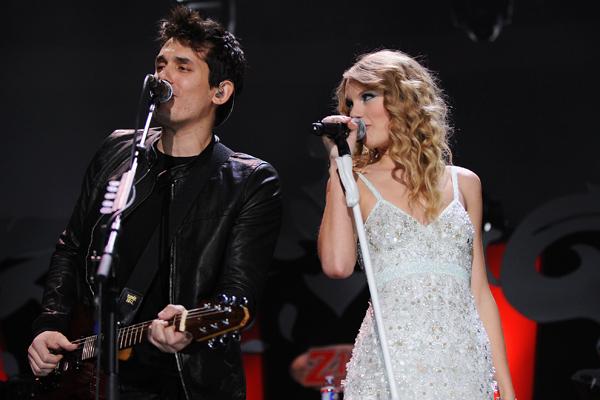 John Mayer and Taylor swift Z-100 Jingle Ball