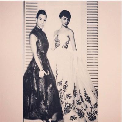 Kourtney Kardashian & Audrey Hepburn