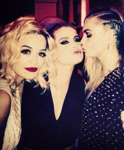 Rita Ora, Kelly Osbourne & Cara Delevingne