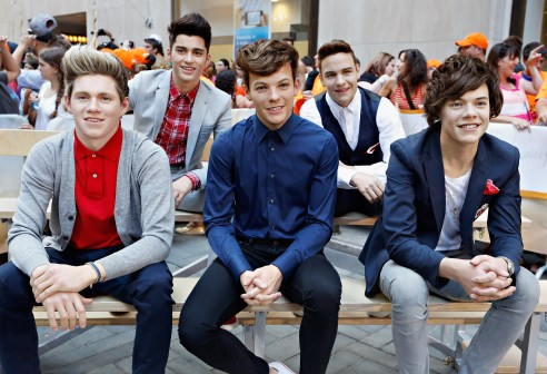 One Direction Wax Figures At The Today Show