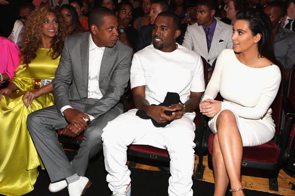 Beyonce, Jay-Z, Kanye West, Kim Kardashian