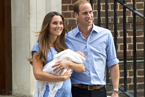 Kate Middleton & Prince William with Royal Baby