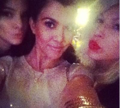 Kendall Jenner, Kourtney Kardashian & Joyce Bonelli