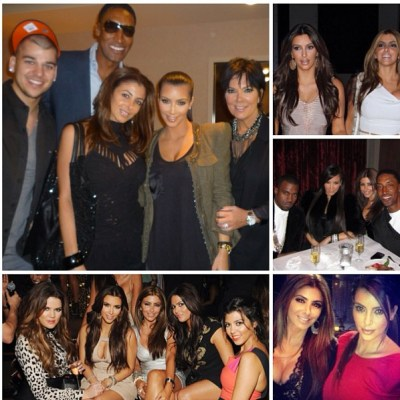 Kim Kardashian & Larsa Pippen collage