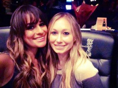 Lea Michele & friend