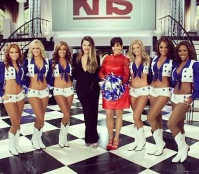 Khloe Kardashian, Kris Jenner & Dallas Cowboy Cheerlleaders