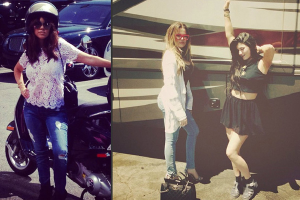 Kourtney Kardashian, Khloe Kardashian & Kylie Jenner