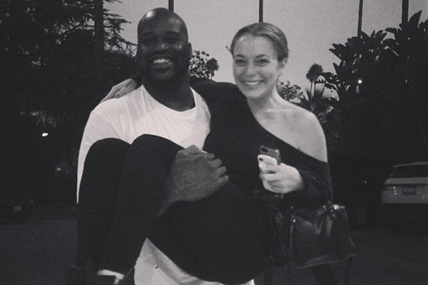 Shaquille O'Neal & Lindsay Lohan