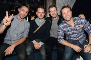 Wilson Bethel, Elijah Wood, Robert Buckley and Scott Porter