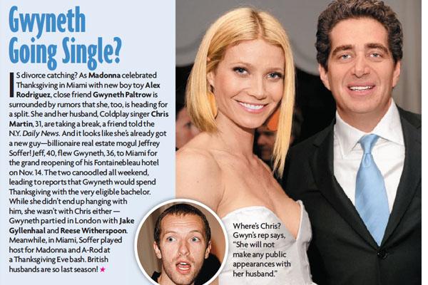 Gwyneth and Jeffrey Soffer in the Dec. 15, 2008 issue of Star